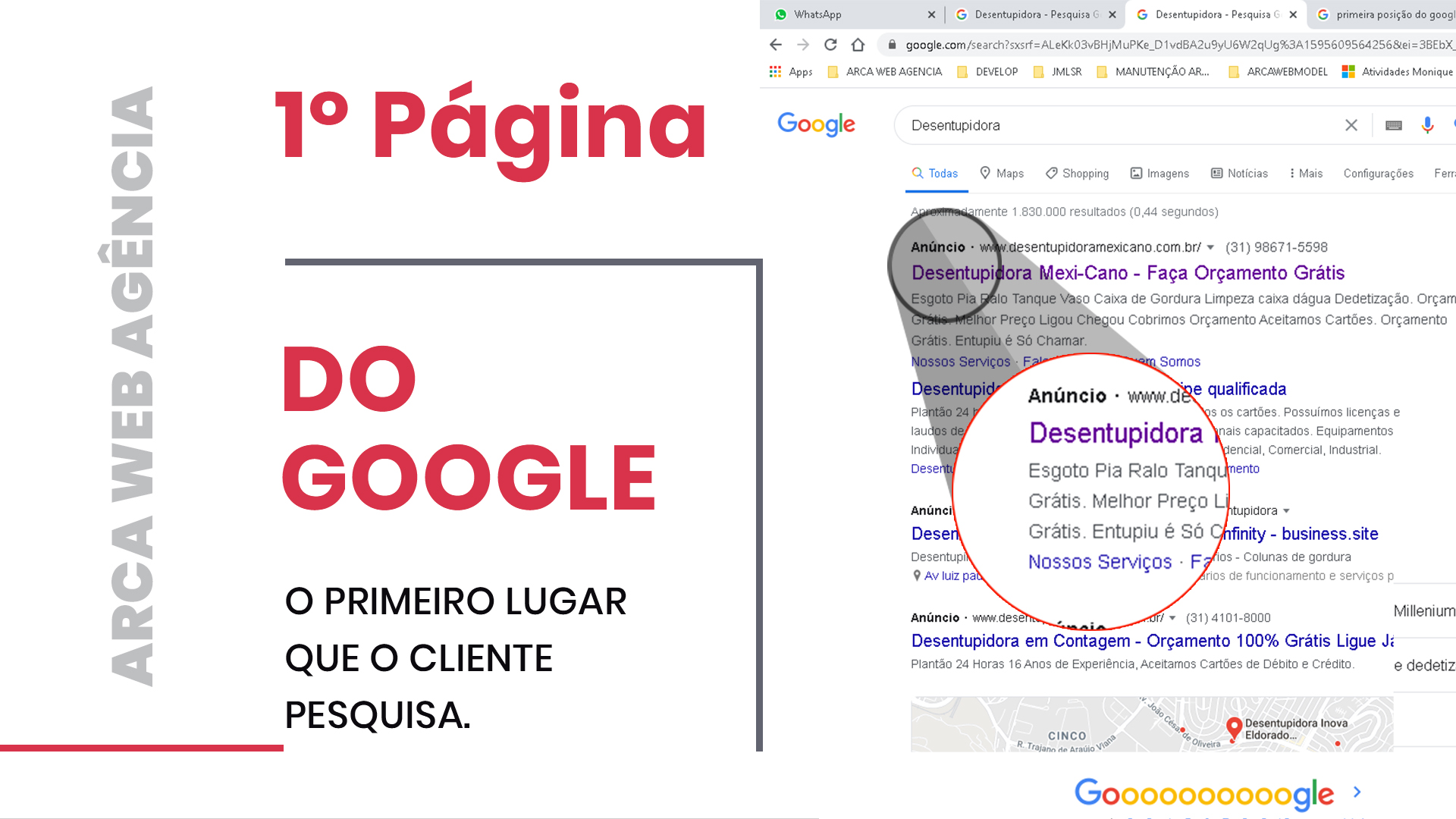campanhas do google Arca Web Agência